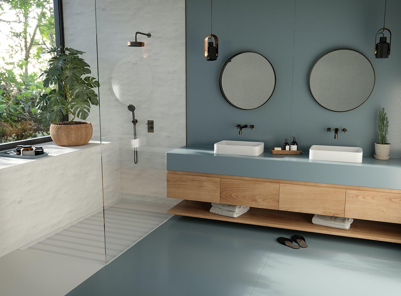 Silestone Sunlit Days Cala Blue Bathroom web Nace Sunlit Days by Silestone® Cosentino España