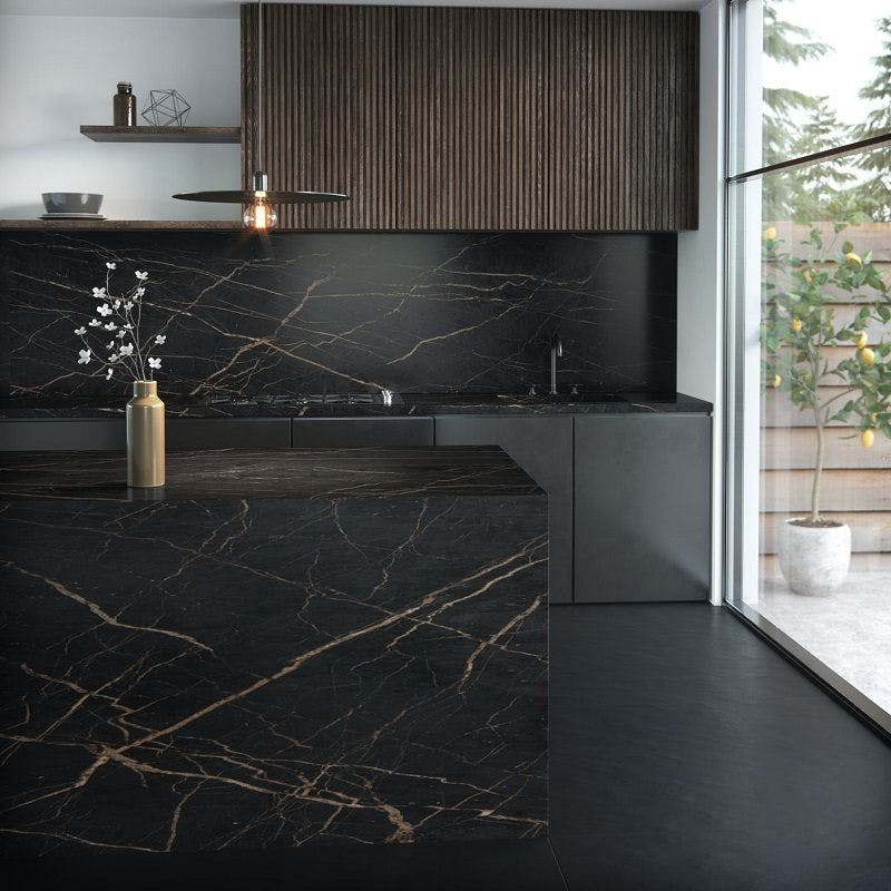 dekton kitchen laurent encimera negra 1 | Cosentino