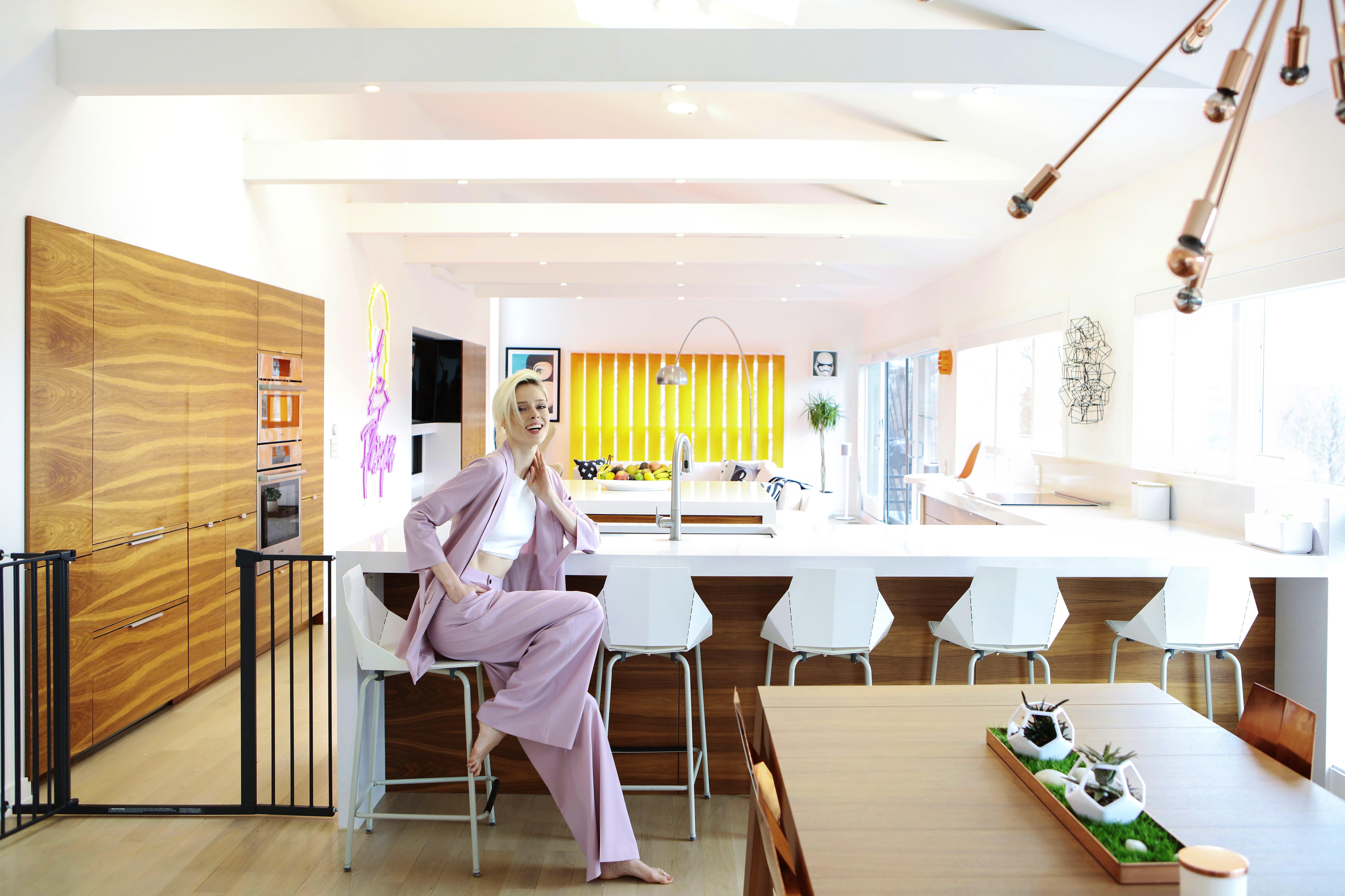 6. coco rocha kitchen overall with coco 2 | Cosentino