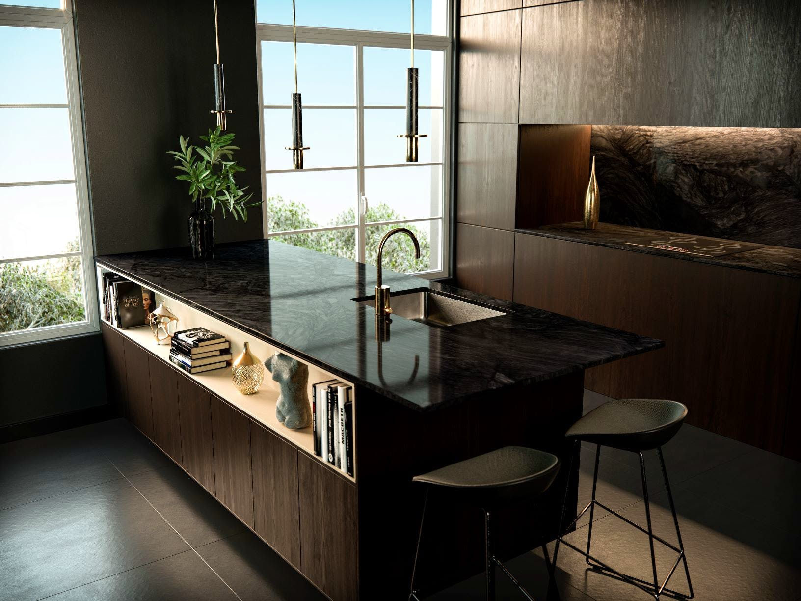 Sensa by Cosentino Nilo Kitchen countertops and backsplash 1 2 | Cosentino
